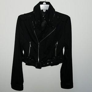 XOXO Black Cropped Motocycle Jacket